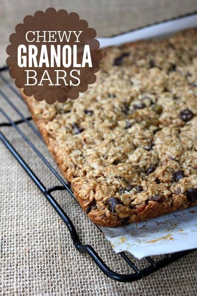 thick and chewy peanut butter granola bars granola bar recipes ...