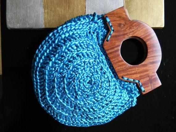 TURQUESA PAJARITA PURSE Clutch blue turquoise por AmanoPajaritas