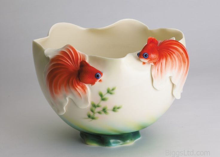 Franz Porcelain Goldfish Bowl FZ00425