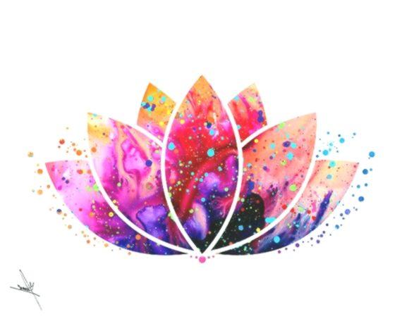 Lotus Flower Yoga Symbol Watercolor Illustrations Art Print Poster Handmade Wall Decor Art Home Decor Wall Hanging A Posters Art Prints Yoga Symbols Art Prints