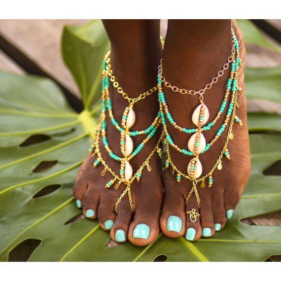 Camina Yemayá - mar gitana descalza sandalia