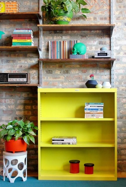 Make work fun! Each bookcase has been professionally refinished with auto body paint to give you bright, durable color that lasts.