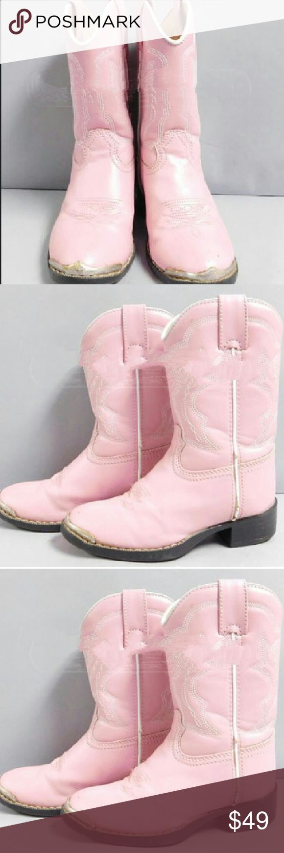 Durango Cowgirl Boots Size 11 Pink Pink girl cowboy boots Size 11 Durango Shoes