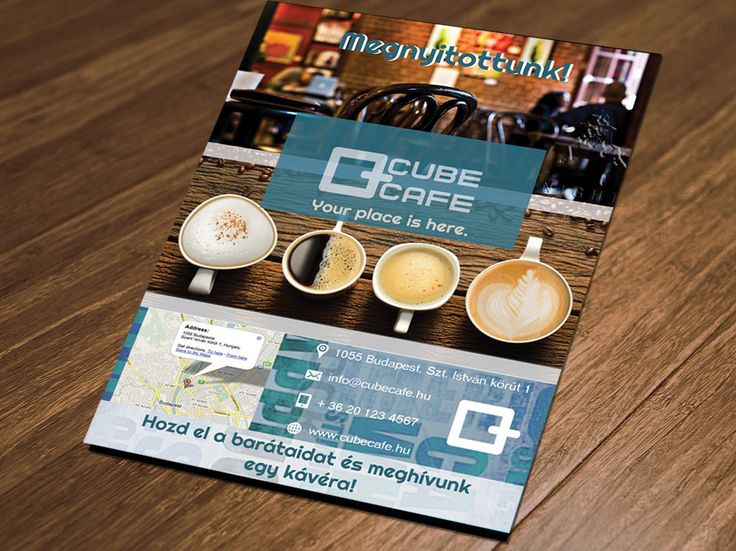Cube cafe leaflet