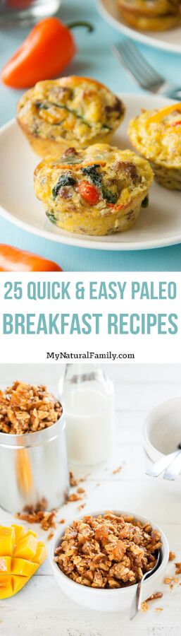 I love how these quick and easy Paleo breakfast recipes can either be made ahead of time or don't take very long to make in the morning.