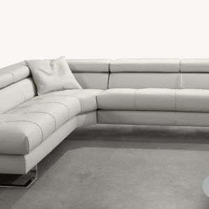 Gamma Leather Sectional Sofa