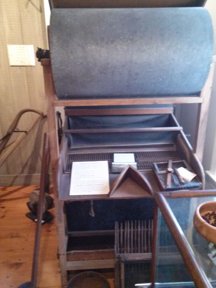 Photo taken in 2014:  Cranberry Separator and harvesting tools. Currently reside in the Tool Room at Atwood House Museum, Chatham, MA. Cranberry growing was another important local enterprise and it is represented by a cranberry sorter, a cranberry scoop and other implements associated with cranberry farming. #atwoodhouse, #chathamhistoricalsociety, #chatham, #capecod, #toolroom