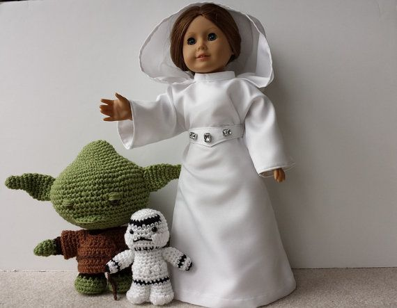 Star Wars Princess Leia American Girl Doll Costume by CraftyWanda
