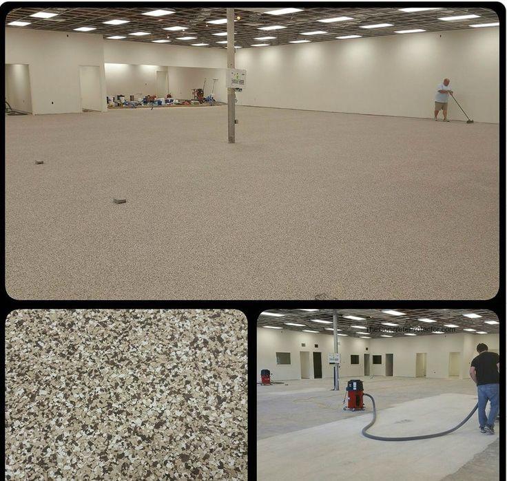 Epoxy Flake Floor Transformation- Creative Concrete Coatings- Wilson NC