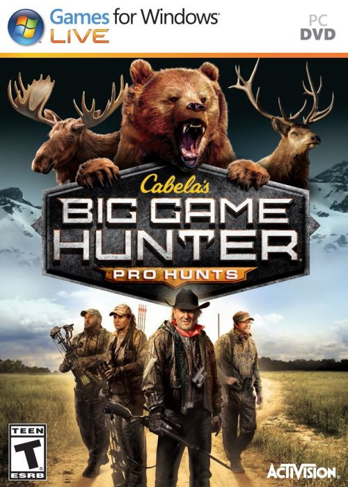 Cabelas Big Game Hunter Pro Hunts Genre : Action/Shooter/Sport | DVD : 1 DVD | Price : Rp. 5.000,-  Minimum System Requirements: • OS: Windows® XP 32-bit (with Service Pack 3) • Processor: Intel Core® 2 Duo E2180 or AMD Athlon 64 X2 4000+ Socket AM2 • Memory: 2 GB RAM • Graphics: NVidia GeForce 8800 GT 512MB or AMD HD 4850 512MB • DirectX: Version 9.0c • Storage: 5 GB available space • Sound Card: 100% DirectX 9.0c compatible 16-bit