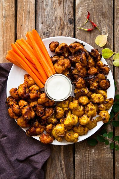 vegane Chicken wings aus Blumenkohl rezept