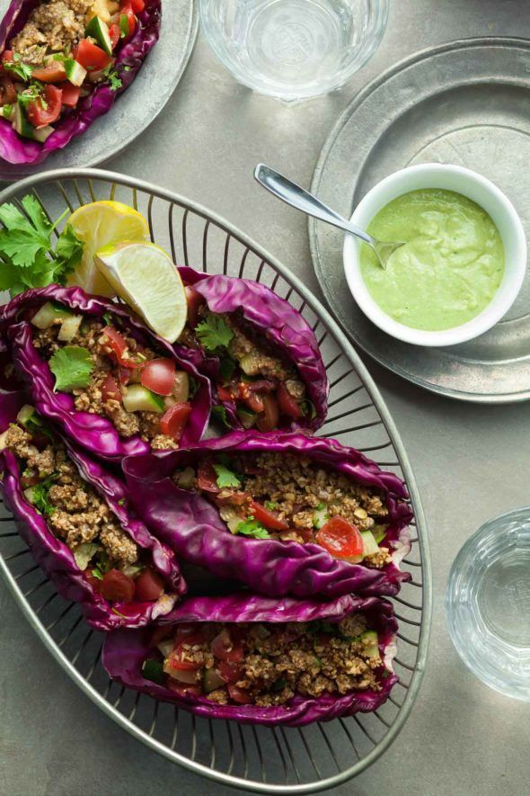 A fresh, no-cook take on traditional tacos with just the right amount of spicy heat and cooling crunch.