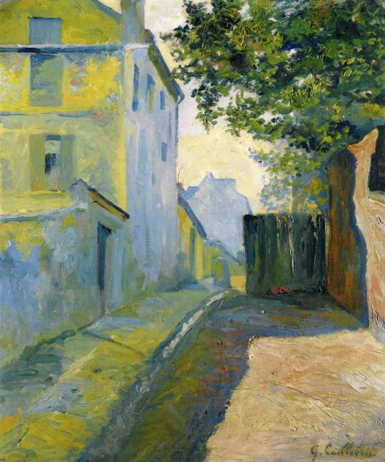 Rue du Mont-Cenis, Montmartre by Gustave Caillebotte