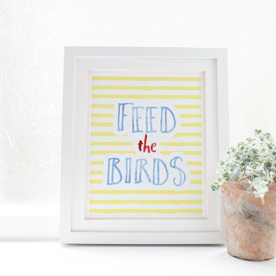 Feed the Birds  Mary Poppins  Disney Quotes  by SnowAndCompany