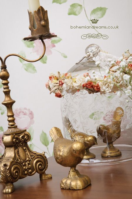 gold iron birds www.bohemiandreams.co.uk