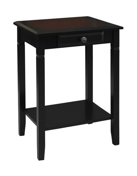 Camden Transitional Black Cherry Wood End Table
