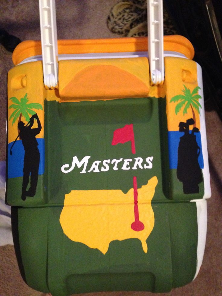 golf theme cooler #masters #golf