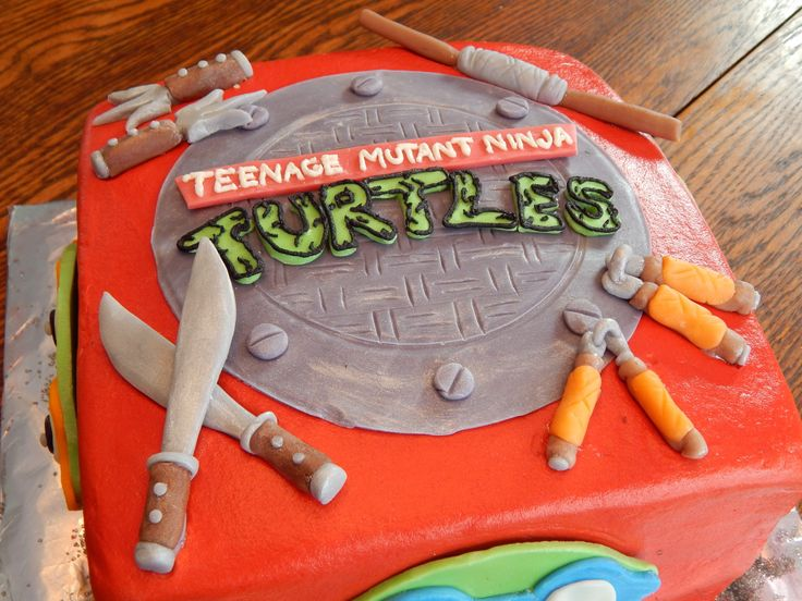 Easy Homemade Chocolate Turtle Cake: 14 Best Teenage Mutant Ninja Turtles Cakes Images On Pinterest