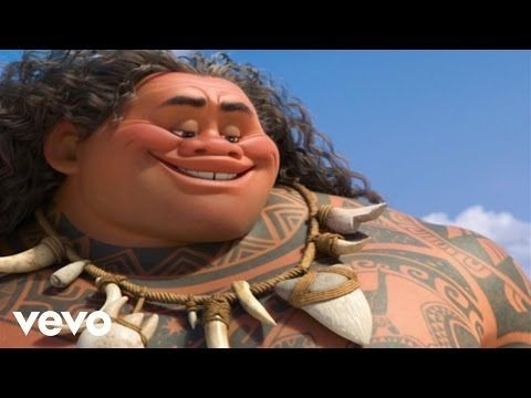 "Check out this Moana music clip. Here Dwayne Johnson as Maui sing ""You're Welcome"" and look for the hidden Disney surprise in the video. #MOANA"