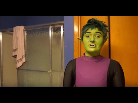 Beast Boy cosplay makeup application and removal tutorial
