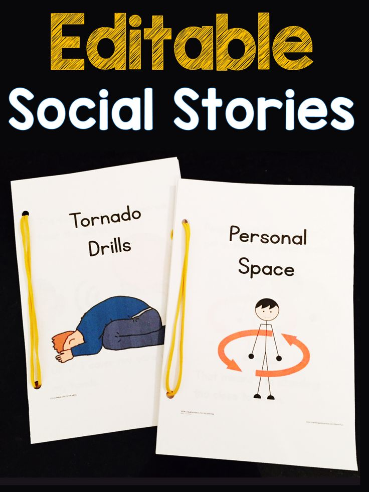 Editable social stories available in a growing bundle! Click the picture for details :)