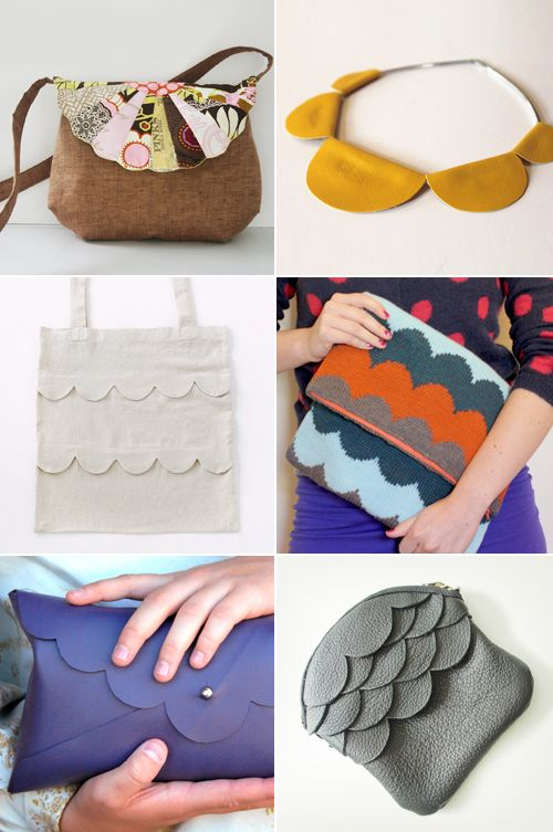 Tutorials for DIY accessories with scallops