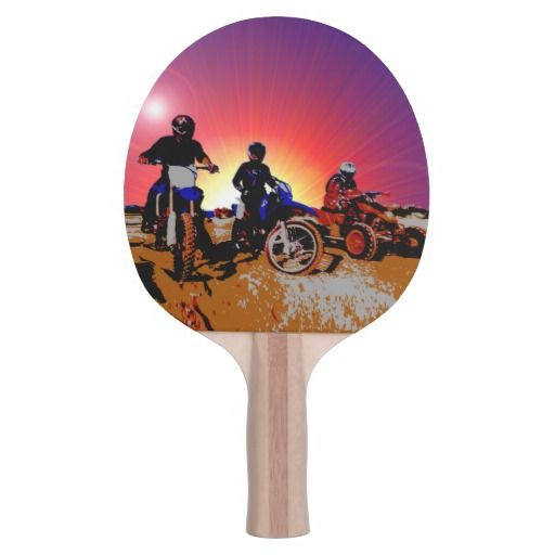 http://www.zazzle.com/gone_riding_quad_and_dirt_bikes_motocross-256960027845943533?rf=238523064604734277 Gone Riding Quad And Dirt Bikes Motocross - This ping pong paddle features three friends which have gone riding on their dirt bikes and quad bikes.