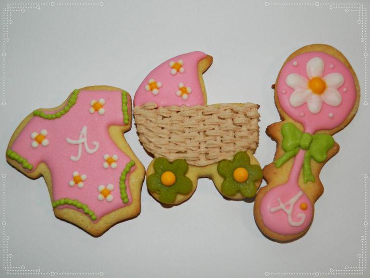 Cute girl pink cookie favors