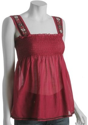 Very Cute Joie beet embroidered voile smocked babydoll and on sale. Let Joie remind you that life is better lived in relaxed, comfortable clothes. Click here http://bit.ly/HRTJua and don't forget to download your free Divalicious mobile app for iPhone http://bit.ly/xl0JTv or Android http://bit.ly/y7z0au today. Try them on in our 'Virtual Dressing Room' and share with your friends.