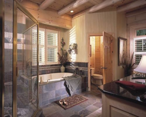 Cabin Style Decorating Modern Cabin Decor Bathroom