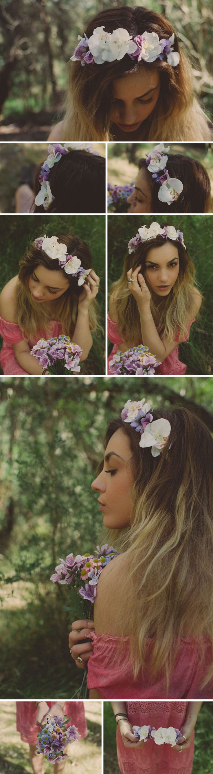 DIY floral crown tutorial featured on Fawn Magazine Online  #DIY #floral #crown #tutorial #TheDustyFoxx #Fawn #beauty