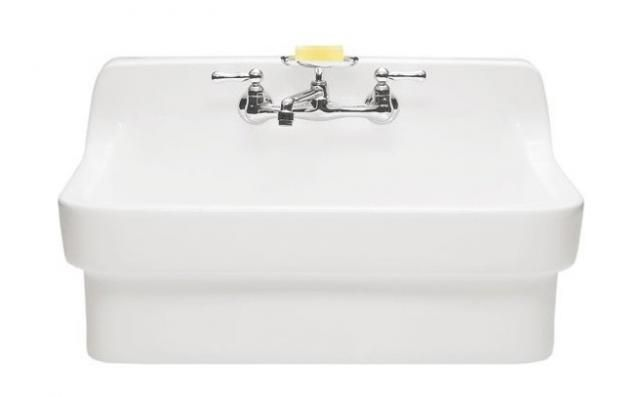 Lovely Yellow Bathrooms as well Bathroom Sink Basin moreover Ikea Bathroom Vanities Ikea Godmorgon in addition Sinks Showers in addition Stone For Fireplace And Backsplash. on 10 easy pieces wall mounted guest bath sinks