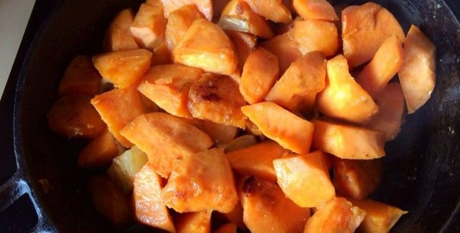 Sweet Potato is Our Staple Food .