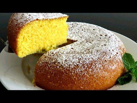 #Бисквит из кукурузной муки в мультиварке #пирог làm Bánh bột Ngô bằng nồi cơm điện #LudaEasyCook - YouTube