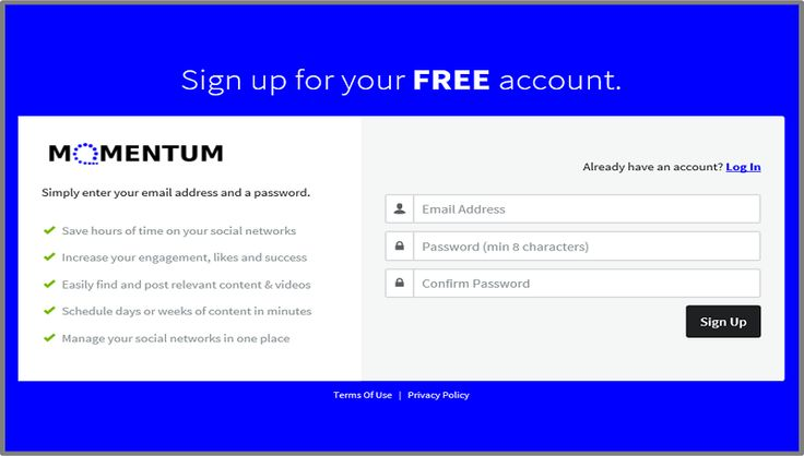 Sign up for a Free upgradable account