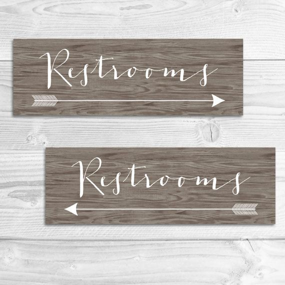 DIY Printable Wedding Restrooms Directional Sign PDF Rustic Wood Wedding ■ Invitation Details ■ - Wedding Directional Signs included in PDF and JPG form - 12x4 Directional Signs - Includes 4 total files (Restrooms in both right and left arrow orientations in PDF and JPG form)  ■ Please Note ■ - This listing is for a digital PDF file - print as many as you want! - If you could like a custom order, please message me and Ill try my best to accommodate you! ■ Order Placement ■ 1. At the time of…