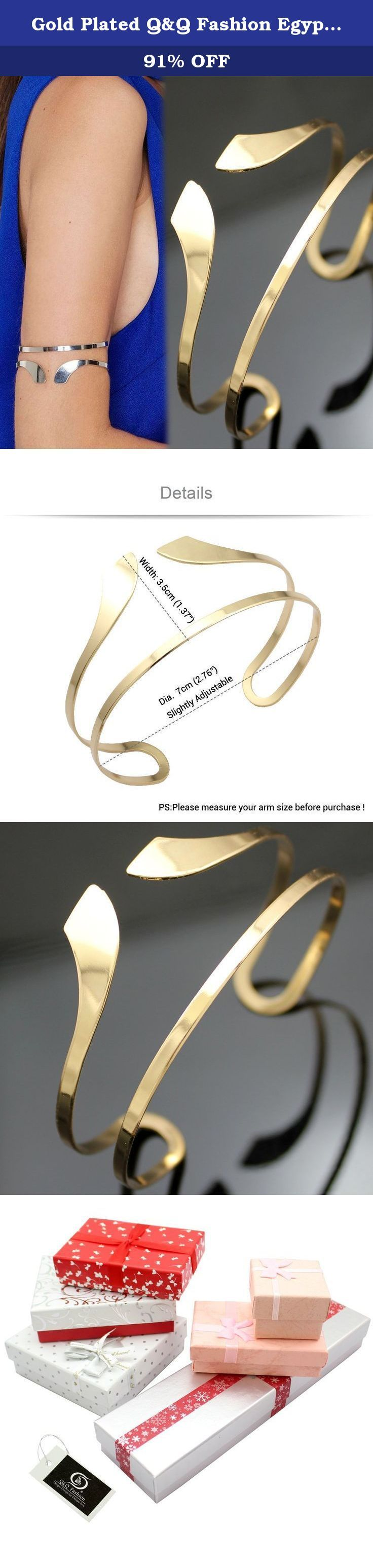 Gold Plated Q&Q Fashion Egypt Bar Curve Geo Open Upper Arm Cuff Armlet Armband Bangle Bracelet Gift. Q&Q Fashion Egypt Bar Curve Geo Open Upper Arm Cuff Armlet Armband Bangle Bracelet Gift Art Nouveau style ,Art Deco style ,Fancy Dress style ,Kitsch and so on it`s for occasions like Party,Fashion Show,Photo,Prom.and so on .