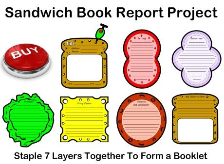 This uniquely shaped Sandwich Book Report Project contains assembling directions, first draft printable worksheets, final draft templates, a grading rubric, and a bulletin board display banner.