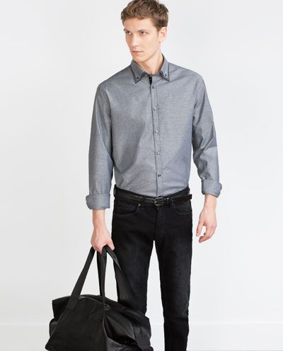 ZARA - MAN - DOUBLE COLLAR SHIRT