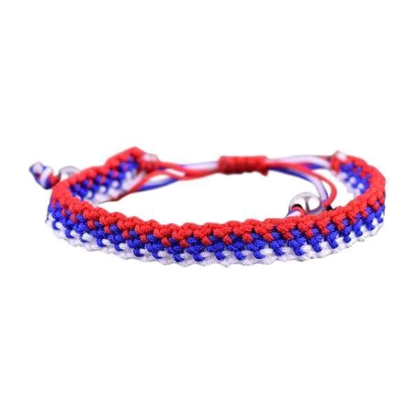 France National Flag Gradient Style Hand Woven Bracelet