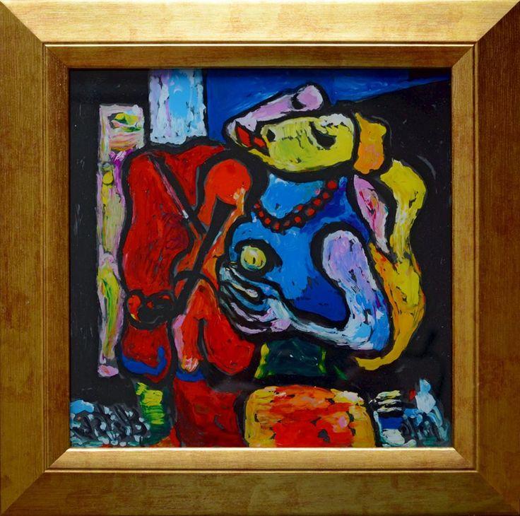 Дуэт  стекло,м. 19х19 продано  Заказать авторский повтор +7 (912) 673 9616