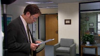 Dwight receives faxes from the future. #TheOffice