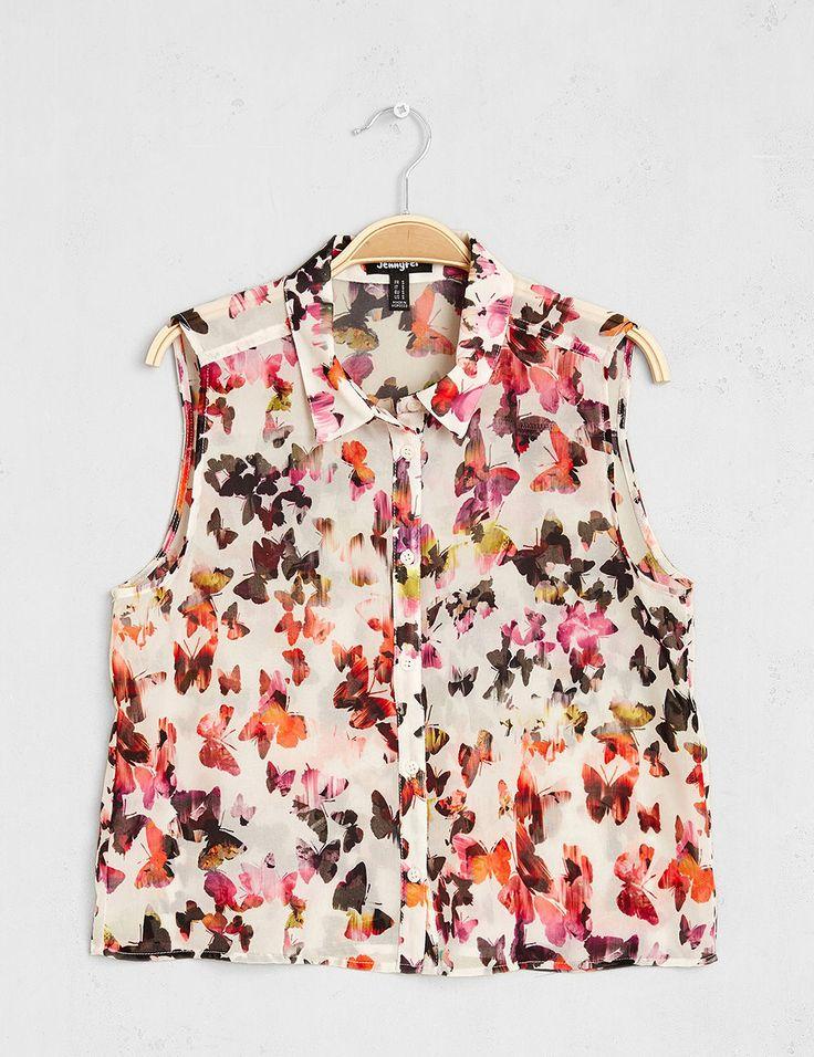 Trouvez la chemise femme pas cher avec les SOLDES Jennyfer   Chemise en  jean, chemise à carreaux, chemise noire, chemise blanche, chemise longue… 4840a14a5fd
