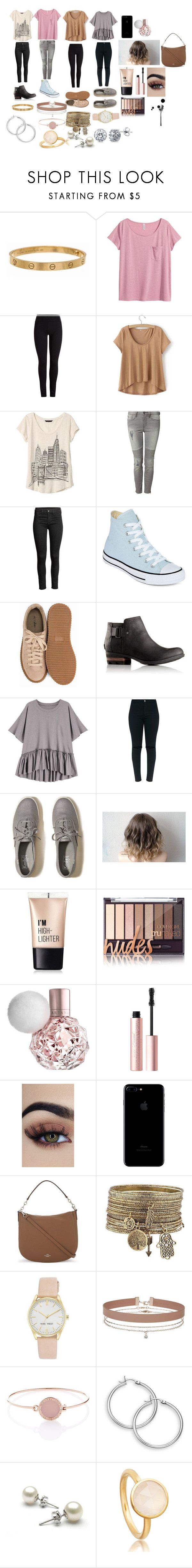 """4 day look book."" by heavensummerjimenenz ❤ liked on Polyvore featuring beauty, Cartier, H&M, Banana Republic, Devoted, Converse, Nly Shoes, SOREL, Hollister Co. and Charlotte Russe"