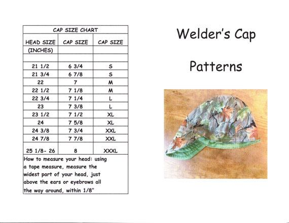 pdf welder s hat cap pattern for 6 panel short crown reversible hat