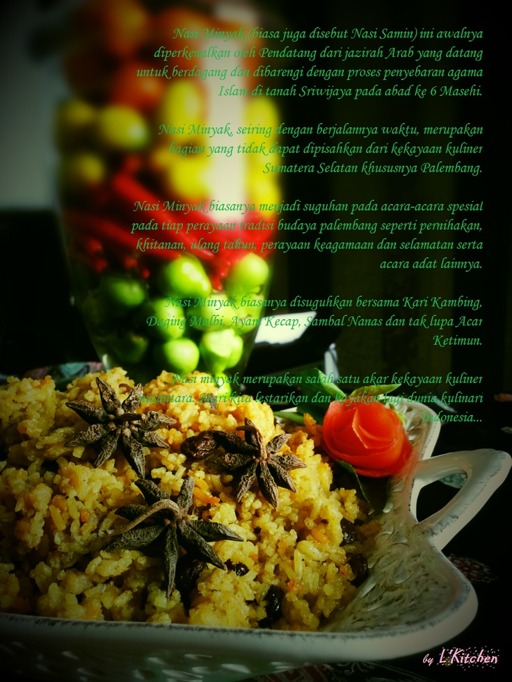 Nasi Minyak / Nasi Samin, Palembang Traditional  dishes are usually served for special occasions