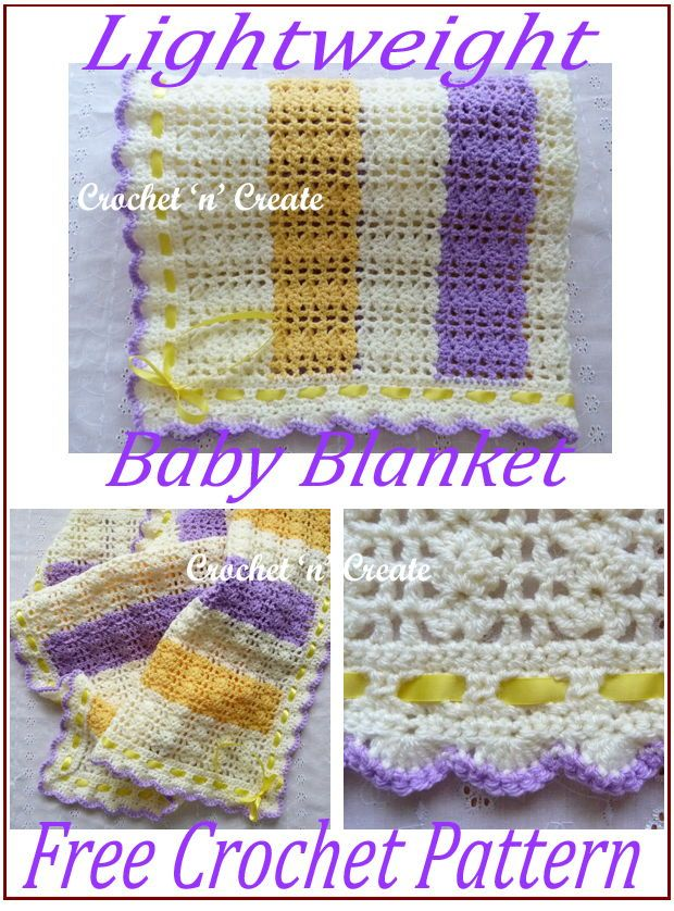 Lightweight Crochet Baby Blanket Free Crochet Pattern Crochet Patterns Baby Blanket Crochet Pattern Free Crochet Pattern