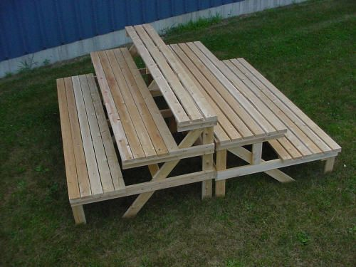 Tiered Garden Display and Step Benches - Wood Display Products ...
