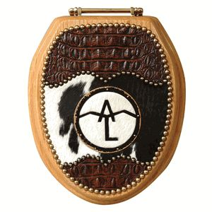 Western Decor Catalog Request | Personalized Brand Black and White Toilet Seat