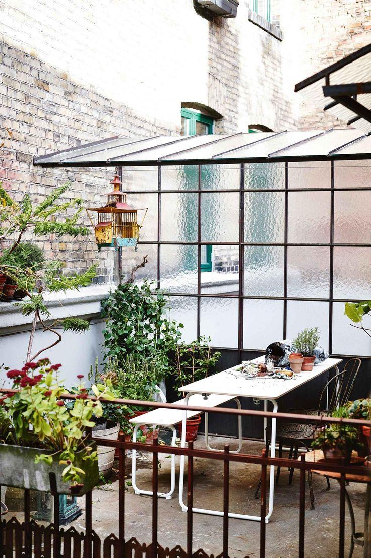 glass roof for side garden